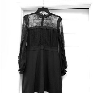 Women's lace detail little black dress